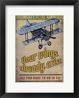 Framed Spread Wings