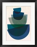 Framed Blue Bowls