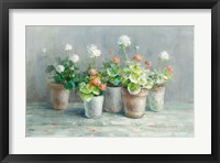 Framed Farmhouse Geraniums