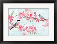 Framed Flowers and Feathers II