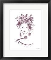 Framed Flower Girl I Plum