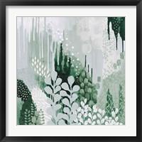 Framed Light Green Forest II
