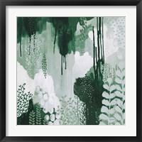 Framed Light Green Forest I