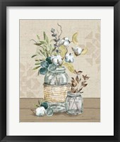 Framed Cotton Bouquet III