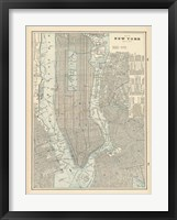 Framed New York City Map