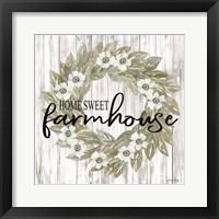 Framed Home Sweet Farmhouse Wreath