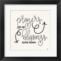 Framed Blessings Come Down