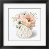 Framed Winter Anemones - Pink