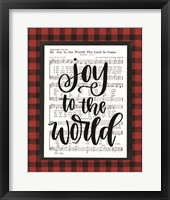 Framed Joy to the World