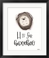 Framed H is for Hedgehog