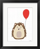 Framed Hedgehog with Balloon