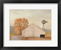 Framed Fall Barn in Muir