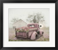 Framed Pink Flower Truck