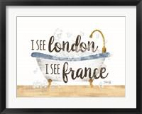 Framed I See London Bathtub