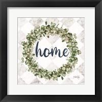 Framed Home Eucalyptus Wreath