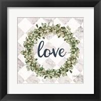 Framed Love Eucalyptus Wreath