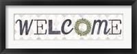 Framed Welcome with Eucalyptus Wreath I