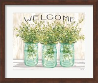 Framed Welcome Glass Jars
