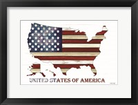 Framed United States of America