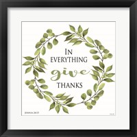 Framed In Everything Give Thanks Wreath