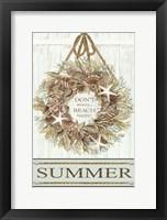 Framed Summer Beach Wreath