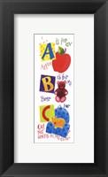 Framed 'A' is for Apple