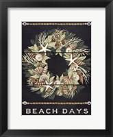 Framed Beach Days Shell Wreath