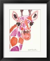Framed Giraffe Named Liz