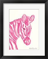 Framed Sabrina the Zebra