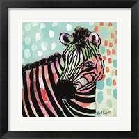 Framed Wilma the Zebra