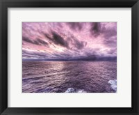 Framed Shades of Purple Sunset