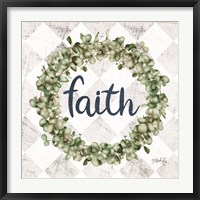 Framed Faith Eucalyptus Wreath