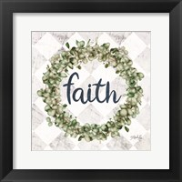 Framed Faith Eucalyptus Wreath