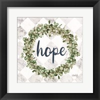 Framed Hope Eucalyptus Wreath