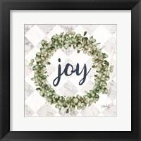 Framed Joy Eucalyptus Wreath