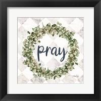 Framed Pray Eucalyptus Wreath
