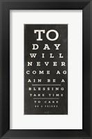 Framed Eye Chart III