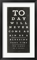 Framed Eye Chart III