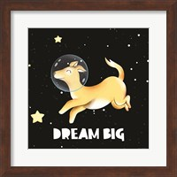 Framed Dream Big Astronaut Dog