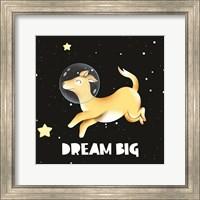 Framed Dream Big Astronaut Dog