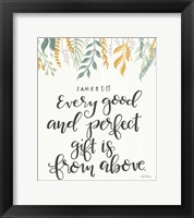 Framed Every Good and Perfect Gift
