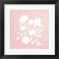 Framed Pink Flower Bunch I