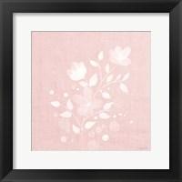Framed Pink Flower Bunch II