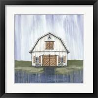 Framed White Garden Barn