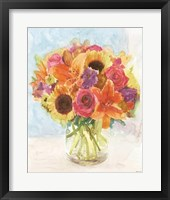 Framed Vase with Flowers I