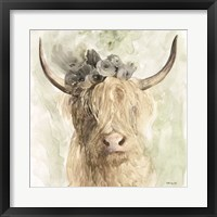 Framed Cow and Crown I