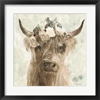 Framed Cow and Crown II