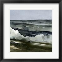 Framed Loose Watercolor Waves III