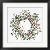 Framed Holly Farmhouse Wreath I