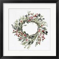 Framed Holly Farmhouse Wreath II